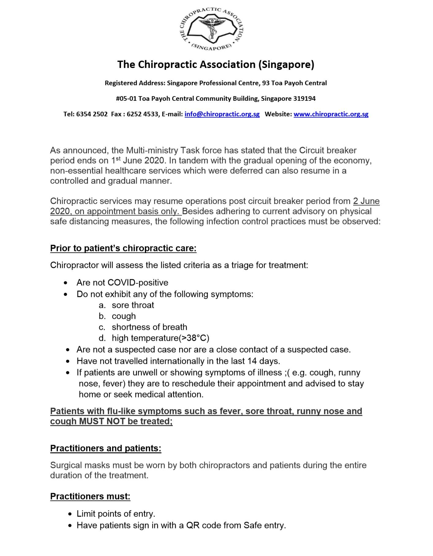 Chiropractor Guideline